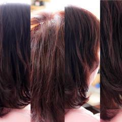 色気 ピンク ボルドー ナチュラル ヘアスタイルや髪型の写真・画像