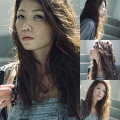 ストリート ロング 外国人風 透明感 ヘアスタイルや髪型の写真・画像