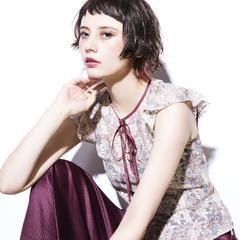 外国人風 モード ショート 抜け感 ヘアスタイルや髪型の写真・画像