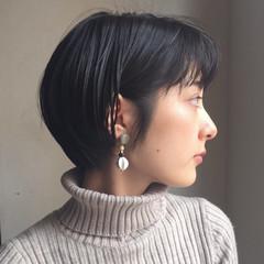ナチュラル ボブ 小顔 ピュア ヘアスタイルや髪型の写真・画像