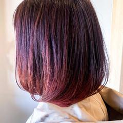 ピンクベージュ ストリート ベリーピンク ピンクラベンダー ヘアスタイルや髪型の写真・画像