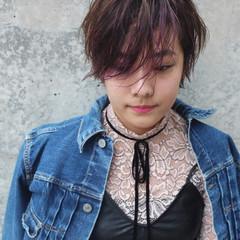 斜め前髪 黒髪 フリンジバング 前髪あり ヘアスタイルや髪型の写真・画像