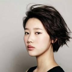 黒髪 ストレート ショート ストリート ヘアスタイルや髪型の写真・画像