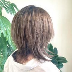 ミディアム ヌーディベージュ ナチュラル可愛い モテ髪 ヘアスタイルや髪型の写真・画像