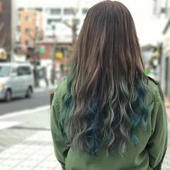 ブリーチ グラデーションカラー ストリート ロング ヘアスタイルや髪型の写真・画像