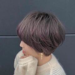 ショートボブ ショートヘア ショート 裾カラー ヘアスタイルや髪型の写真・画像