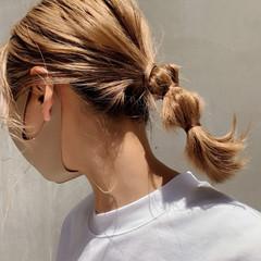 ナチュラル 外国人風フェミニン ナチュラルベージュ セルフアレンジ ヘアスタイルや髪型の写真・画像