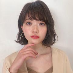 シースルーバング ボブ オフィス 韓国ヘア ヘアスタイルや髪型の写真・画像