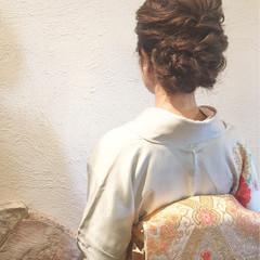 結婚式 上品 ヘアアレンジ ナチュラル ヘアスタイルや髪型の写真・画像
