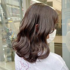 春色 春 ミディアム 初カラー ヘアスタイルや髪型の写真・画像