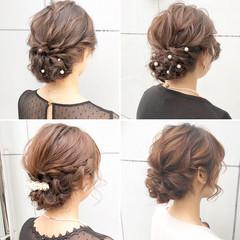 簡単ヘアアレンジ 結婚式 ロング アンニュイほつれヘア ヘアスタイルや髪型の写真・画像