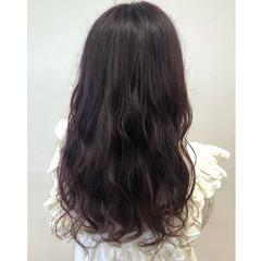 ラベンダーグレージュ ラベンダーピンク ラズベリーピンク ロング ヘアスタイルや髪型の写真・画像