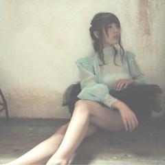 ヘアアレンジ 外国人風 ゆるふわ フェミニン ヘアスタイルや髪型の写真・画像