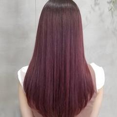 ラベンダーピンク ガーリー ロング グラデーション ヘアスタイルや髪型の写真・画像