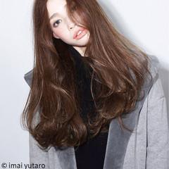 グラデーションカラー ロング レイヤーカット 外国人風 ヘアスタイルや髪型の写真・画像