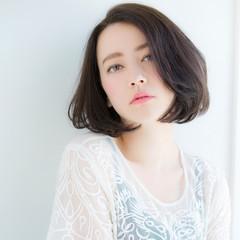 前髪あり 大人かわいい 大人女子 小顔 ヘアスタイルや髪型の写真・画像