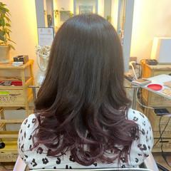 ミディアム グラデーションカラー グラデーション モード ヘアスタイルや髪型の写真・画像