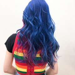派手髪 ストリート ピンク ハイトーンカラー ヘアスタイルや髪型の写真・画像