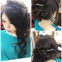 色気 セミロング フェミニン ルーズ ヘアスタイルや髪型の写真・画像