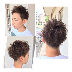 メンズカット メンズスタイル ストリート メンズショート ヘアスタイルや髪型の写真・画像