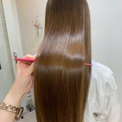 ロング 髪質改善トリートメント ロングヘア 髪質改善カラー ヘアスタイルや髪型の写真・画像