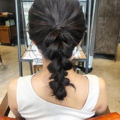 ヘアアレンジ 簡単ヘアアレンジ ポニーテールアレンジ ガーリー ヘアスタイルや髪型の写真・画像