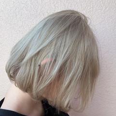 切りっぱなしボブ セミロング ショートヘア ベリーショート ヘアスタイルや髪型の写真・画像