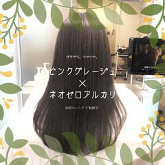 ナチュラル 髪質改善 前髪 ストレート ヘアスタイルや髪型の写真・画像