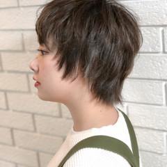 ショート ストリート ハイライト ウルフカット ヘアスタイルや髪型の写真・画像