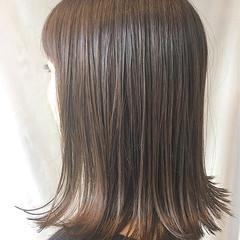 セミロング コンサバ デート オフィス ヘアスタイルや髪型の写真・画像