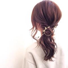 セミロング 外国人風 ヘアアレンジ モテ髪 ヘアスタイルや髪型の写真・画像