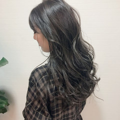 アッシュ ストリート ロング グラデーションカラー ヘアスタイルや髪型の写真・画像