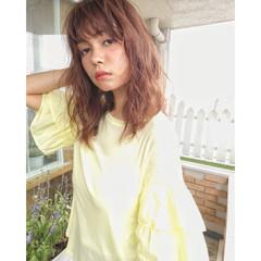 アンニュイ ウェーブ 大人かわいい ナチュラル ヘアスタイルや髪型の写真・画像