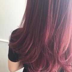 ピンク ラベンダーピンク グラデーションカラー ストリート ヘアスタイルや髪型の写真・画像