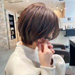 小顔ショート ショートヘア 大人ヘアスタイル ショートボブ ヘアスタイルや髪型の写真・画像