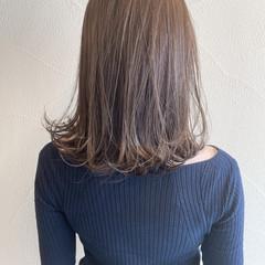 フェミニン ボブ ミルクティーベージュ ヘアスタイルや髪型の写真・画像