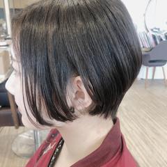 ナチュラル ショート 艶髪 黒髪 ヘアスタイルや髪型の写真・画像