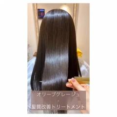 ナチュラル アッシュグレージュ 髪質改善 髪質改善トリートメント ヘアスタイルや髪型の写真・画像