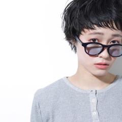黒髪 ナチュラル ショートバング ベリーショート ヘアスタイルや髪型の写真・画像