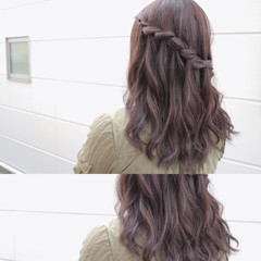 編み込み 外国人風 ガーリー ショート ヘアスタイルや髪型の写真・画像