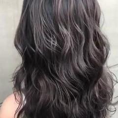 ハイライト コントラストハイライト 大人ハイライト バレイヤージュ ヘアスタイルや髪型の写真・画像