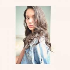 ウェーブ ラフ ナチュラル セミロング ヘアスタイルや髪型の写真・画像