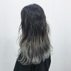 ストリート ネイビー ホワイト ロング ヘアスタイルや髪型の写真・画像