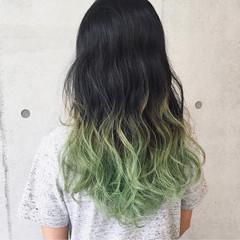 ストリート 透明感 グラデーションカラー 外国人風カラー ヘアスタイルや髪型の写真・画像
