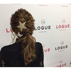 ローポニーテール ヘアアレンジ 波ウェーブ ロング ヘアスタイルや髪型の写真・画像