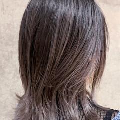 ボブ ナチュラル ラベンダーグレージュ グラデーションカラー ヘアスタイルや髪型の写真・画像