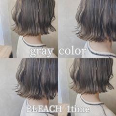 韓国風ヘアー ナチュラル 韓国ヘア ボブ ヘアスタイルや髪型の写真・画像