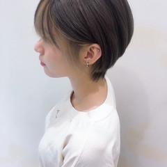 外国人風カラー バングインナーカラー ナチュラル ハイライト ヘアスタイルや髪型の写真・画像