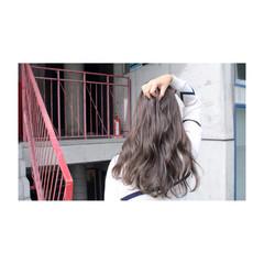 透明感 秋 グレージュ シルバー ヘアスタイルや髪型の写真・画像
