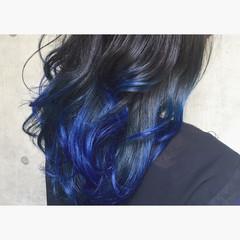 モード ハイライト 暗髪 セミロング ヘアスタイルや髪型の写真・画像